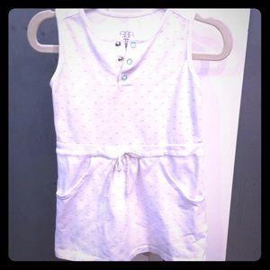 Egg baby cotton stretch white dress
